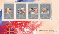 Post stamp Guinea GU 14601 a The canonisation of Pope John Paul II (Vatican, {…}, Pope Francis) Pape Jeans, Pope John Paul Ii, Pope Francis, Vatican, Stamps, Frame, Movie Posters, Art, Seals
