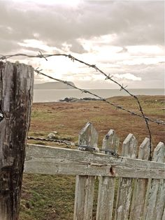 Barbed wire thats how Mum new we had been some where we should not have been. Many times you would catch your clothes climbing onto placed that were forbidden. Wire Fence, Fence Gate, Country Life, Country Living, Old Fences, Wooden Fences, Picket Fences, Country Fences, Down On The Farm