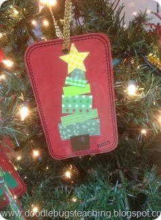 Scrapbooking Christmas Tree Ornaments