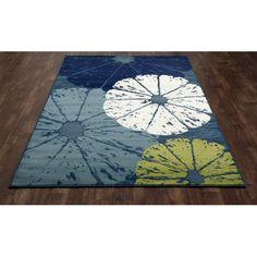 Found it at Wayfair - Seaport Citrus Slice Blue Indoor/Outdoor Area Rug, Rug Designer, Rug Design by Kathleen Szatmary, Textile designer, textile rug design