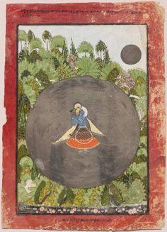 Krishna Plays His Flute in the Moonlight Indian, Rajasthani, 1720–40 #MFA