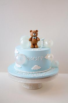 Ocean Birthday Cakes, Baby First Birthday Cake, Cute Birthday Cakes, Art Birthday, Distintivos Baby Shower, Baby Shower Cakes, Baby Boy Cakes, Baby Shower Decorations For Boys, First Birthdays