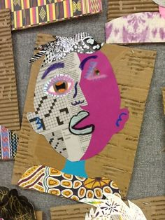 Picasso born in Spain-cubist portrait collage. (no lesson here,just examples of lovely student work) Art at Becker Middle School: Picasso portraits revisited Picasso Art, Pablo Picasso, Picasso Collage, Surrealist Collage, Picasso Style, Middle School Art Projects, Art School, High School, Cubist Portraits