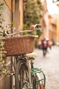 Bike on the streets of Rome, Italy