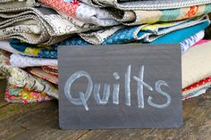 Lovely pile of quilts