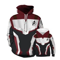Matching Dad Son Hoodie Super Avengers - Dad / 9Y