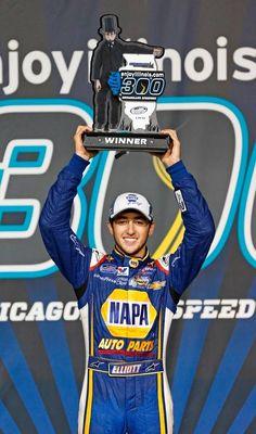 Chase Elliott - 2014 ChicagoLand Speedway Nationwide winner driving for JRM.