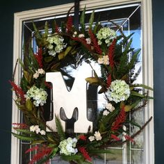 Wreath I made. Very simple purchased everything from Michael's.
