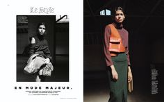 en mode majeur: pooja mor and marland backus by zoe ghertner for m le monde 26th september 2015 | visual optimism; fashion editorials, shows, campaigns & more!
