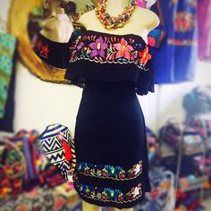 Azalea Campesino Embroidered Mini Dress – pictures world Mexican Style Dresses, Mexican Outfit, Mexican Clothing, Mexican Shirts, Fiesta Dress, Fiesta Outfit, Dama Dresses, Quince Dresses, Traditional Mexican Dress