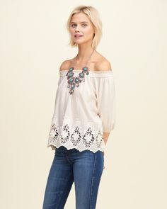A statement Boho piece in supersoft fabric, featuring pretty details at hem, a smocked shoulder styling and cinched long sleeves, Easy Fit