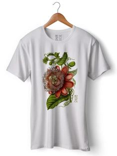 Camiseta PASSIFLORA | Loja Botânica Mens Tops, T Shirt, Fashion, T Shirts, Moda, Tee, Fasion, Trendy Fashion, Tee Shirt