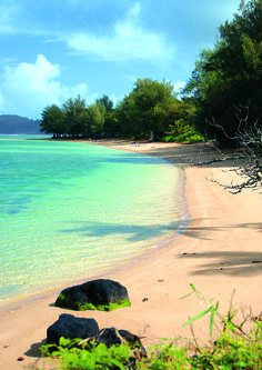 Anini Beach on North Kauai.