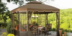 Love the way this gazebo looks! They're great for shade, and somehow they always make a garden look more exquisite.