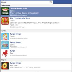 Facebook'taki Yeni Reklam Tipleri – Sponsored Results Doubledown Casino, Casino Games, Facebook Marketing, Social Media Marketing, Search Ads, Facebook Search, Social Platform, Bingo, App