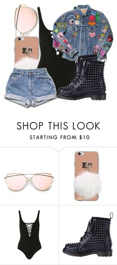 """Untitled #4257"" by dianna-argons-lover ❤ liked on Polyvore featuring Topshop and Dr. Martens"