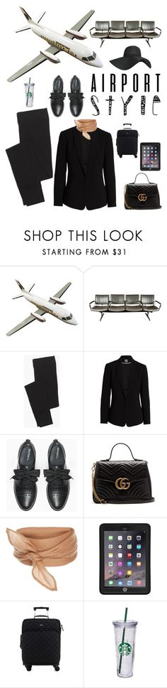 """""""Airport Style"""" by kotnourka ❤ liked on Polyvore featuring Madewell, Vince Camuto, Max&Co., Gucci, Griffin, Kate Spade, Pilot and airportstyle"""
