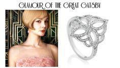 Rich jewellery Diamond Art Nouveau ring... Diamond Art, Diamond Jewelry, Art Nouveau Ring, Fine Jewelry, Jewellery, The Great Gatsby, Icon Design, Contemporary Design, White Gold