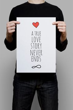 #Ture #Love #Story #Print #Digital #Download #Printable #Home #Decor #Poster #Typography #Inspirational #Quote #Art #Erhico #Design