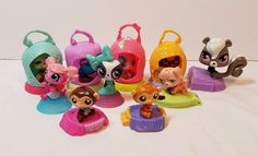 McDonald's Happy Meal Toy Collection Lot LPS Littlest Pet Shop Monkey Dog Frog