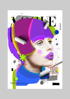 Cheek to Cheek is my latest collage and gif project about Vogue magazines re-cover. Pop Art Collage, Face Collage, Collage Design, Pop Art Illustration, Graphic Design Illustration, Graphic Design Projects, Graphic Design Inspiration, Mode Pop, Pop Art Portraits