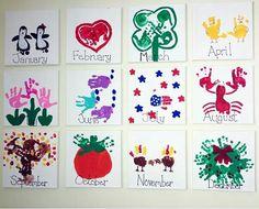 Handprint Kids Calendar Craft Idea – Crafty Morning Handprint Kinderkalender Craft Idea – Crafty Morning This image has get Preschool Calendar, Kids Calendar, Preschool Crafts, Calendar Ideas For Kids To Make, Calender Print, Preschool Christmas, Classroom Crafts, Advent Calendar, Toddler Art