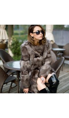 New Princess silver fox fur coat women's long quality fox fur overcoat winter genuine fox fur jacket free shiping Fox Fur Jacket, Fox Fur Coat, Parka Coat, Coats For Women, Jackets For Women, Sweaters For Women, Clothes For Women, Fur Fashion, Sweater Fashion