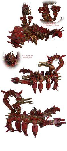 Brass Scorpion, Chaos, Chaos Daemons, Chaos Space Marines, Conversion, Daemons, Defiler, Dreadnought, Khorne, Soul Grinder, Walker, Warhammer 40,000, Warhammer Fantasy, World Eaters