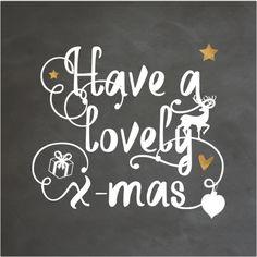 Unieke enkele kerstkaart met sier krulletters in handlettering, krijtbord print op de ondergrond, koper kleurige sterren en kerst icoontjes zoals rendier en kerstbal!