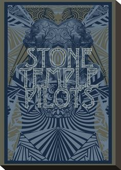 Concert Poster: Stone Temple Pilots Stretched Canvas Print