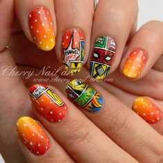 Instagram Cherry Nail Art, Beautiful Nail Designs, Class Ring, Hair Beauty, Marvel, Instagram Posts, Comic, Street, Ongles