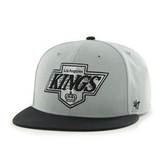 Los Angeles Kings 47 Brand Gray Black Big Shot Fitted Hat Cap
