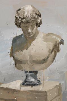 Antinous, oil on canvas - Jan de Vliegher, Belgian, Art Inspo, Portfolio D'art, Art Sketches, Art Drawings, Bel Art, Kreative Portraits, Art Du Croquis, Art Sculpture, Art Et Illustration