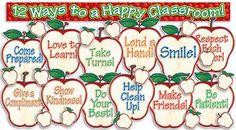 12 Ways To A Happy Classroom! - Apple Themed Bulletin Board