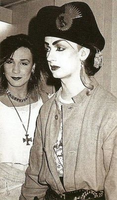 I love how creative & insightful Boy George is! He takes things & gives 'em his own personal Stamp! :)