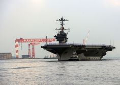 YOKOSUKA, Japan (Aug. 23, 2013) The nuclear aircraft carrier USS George Washington (CVN 73) returns to Fleet Activities Yokosuka. George Washington is forward deployed to Yokosuka, Japan, in support of regional security and stability in the Indo-Asia-Pacific region. (U.S. Navy photo by Mass Communication Specialist 3rd Class Amanda S. Kitchner/Released)
