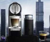 Dying for one of these! A Nespresso citiz with an attached milk frother- at home cappuccinos! Espresso Maker, Coffee Maker, Starbucks, Nespresso Machine, Single Serve Coffee, Cappuccinos, Milk, Kitchen Appliances, Home Decor