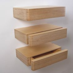Wall mounted shelf for bedside or small vanity unit? Love theses! Small space bedside table + drawer