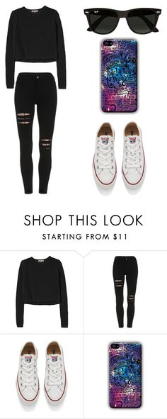 """Untitled #65"" by karenrodriguez-iv on Polyvore featuring Rebecca Taylor, Converse, Ray-Ban, women's clothing, women's fashion, women, female, woman, misses and juniors"