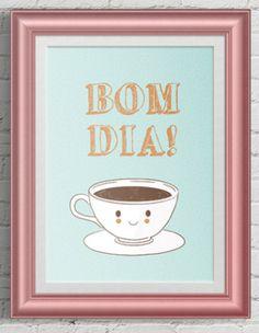 Poster para animar a hora do café em casa!