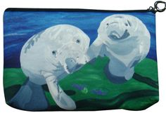 Manatee Cosmetic Bag Salvador Kitti  On Sale by SalvadorKitti, $14.98