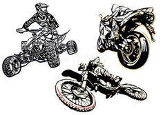 motorsport trio illsutration