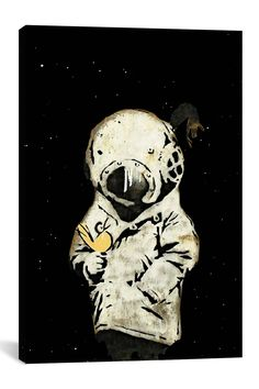 Space Girl and Bird II by Banksy Canvas Print on @HauteLook