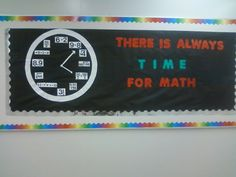 Time for Math Bulletin Board