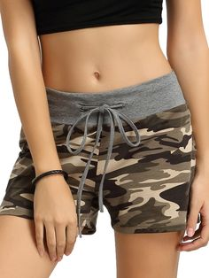 SweatyRocks Camouflage Women's Workout Yoga Hot Shorts (X-Large) -- Awesome products selected by Anna Churchill