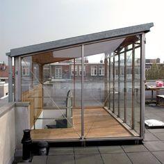Roof deck access stairway