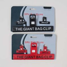giant bag clips - 3 pack Case of 72