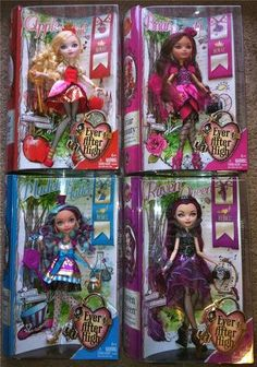 New Ever After High Dolls 4 Apple White Briar Beauty Madeline Hatter Raven Queen Ever After High, Girl Dolls, Barbie Dolls, Custom Barbie, Ever After Dolls, Girl With Green Eyes, Raven Queen, Mattel, Famous Monsters