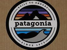 2014 PATAGONIA 1973 MOUNTAINS BUILT TO ENDURE STICKER DECAL CLOTHING FISHING