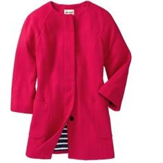 Pink Wool Coat Perfect For Spring